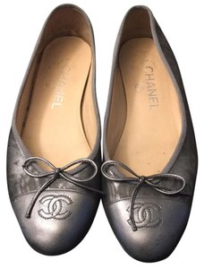 Chanel Blue/silver Flats