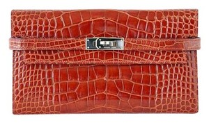 Hermès Wallet Rouge H Red Clutch