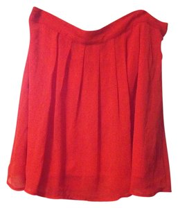 Old Navy Chenille Mini Skirt Red