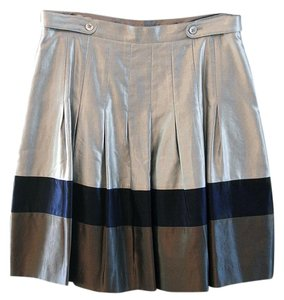 Ted Baker Metalic Navy Brown Skirt Champagne