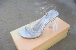 Michelangelo David's Bridal Clear Heel with Rhinestones Pumps Size US 6.5
