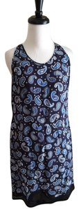 Stella McCartney short dress Blue Print Sleeveless Silk on Tradesy