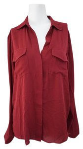 Sam Edelman Career Casual Size Large Top Maroon