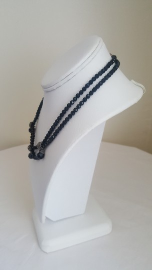 Other Black Stone Necklace with Silver Accents Image 1