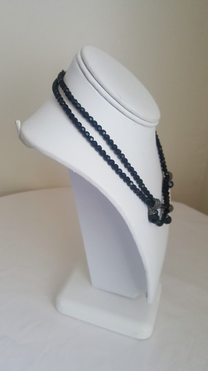 Other Black Stone Necklace with Silver Accents Image 2
