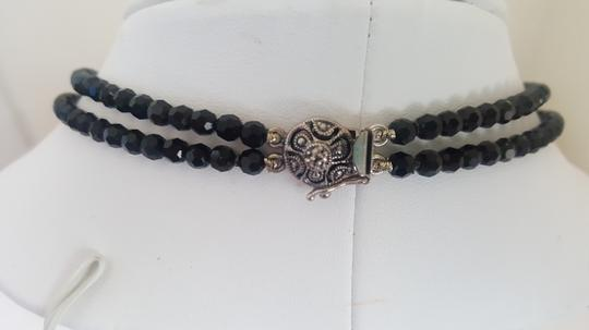 Other Black Stone Necklace with Silver Accents Image 3