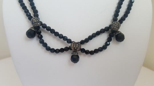 Other Black Stone Necklace with Silver Accents Image 4