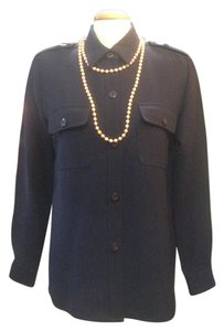 Andrea Jovine Button Up Top Navy