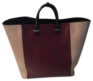 Victoria Beckham Tote in Burgundy, Taupe, Black