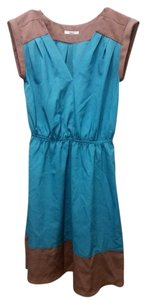 Bar III short dress teal/brown on Tradesy