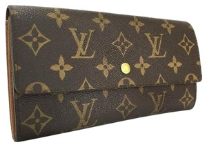 Louis Vuitton France Monogram Porte Feuille Sarah Bifold Long Wallet