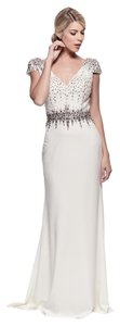 Bicici & Coty Cap Sleeve Evening Prom Dress