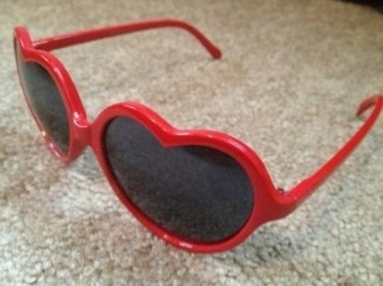 Other Red Heart Shaped Sunglasses