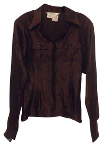 Max Mara Vintage Satin Top Brown