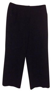 Talbots Cropped Straight Suit Straight Pants Black
