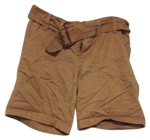 Sanctuary Clothing Belted Boyfriend Cuffed Shorts Tan