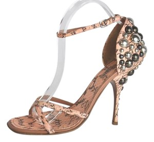 ALAÏA Snakeskin Embellished Size 40 Multi-color Sandals