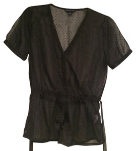 Banana Republic Top Black sheer
