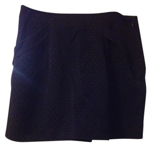 Forever 21 Polka Dot Pleated Mini Mini Skirt Blue