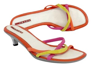 Prada Multi Color Strappy Heels Sandals