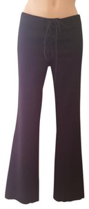 Catherine Malandrino Silk Straight Pants Black