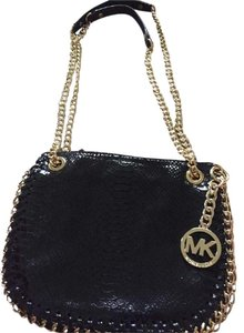 Michael Kors Python Convertible Adjustable Leather Chain Cross Body Bag