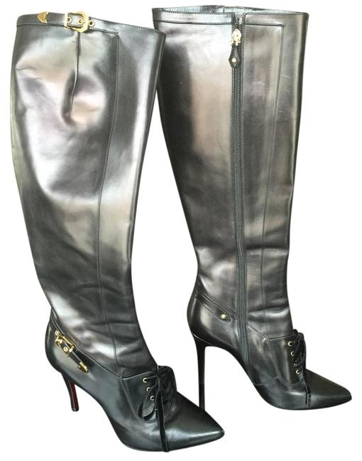 Louis Vuitton Black Leather (Runway) Boots/Booties Size US 8 Regular (M, B) Louis Vuitton Black Leather (Runway) Boots/Booties Size US 8 Regular (M, B) Image 1