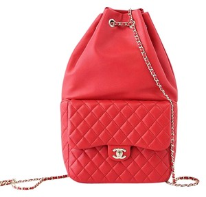 Chanel Classic Lambskin Lambskin Quilted Backpack