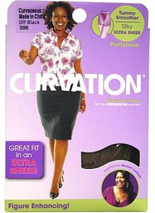 Curvation Curvation Women's 4X Ultra Sheer Pantyhose
