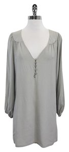 Twelfth St. by Cynthia Vincent short dress Grey Silk Shift on Tradesy
