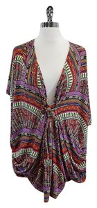 Mara Hoffman Multi Color V-neck Jersey Tunic