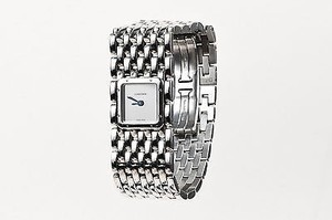 Cartier Cartier Silver Stainless Steel Panthere Ruban Square Face Watch