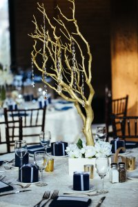 Gold Manzanita Tree Centerpieces