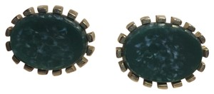 Green Jade Green Jade Goldtone Cuff Links