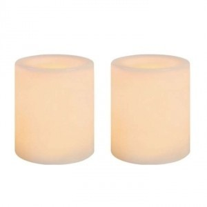 White - Appear Cream When Lite Lot Of 60 Wax Flameless Votive/Candle