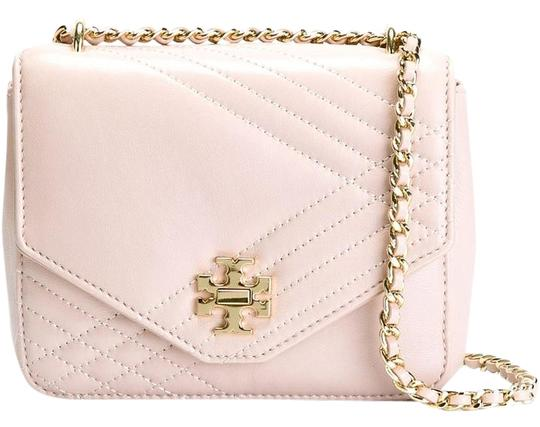 Tory Burch Lamb Leather Quilted Gold Hardware Gold Chain Chain Cross Body Bag