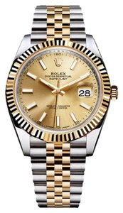 Rolex Rolex Datejust II Steel and Yellow Gold Champagne Dial 41m 126333 CHSJ