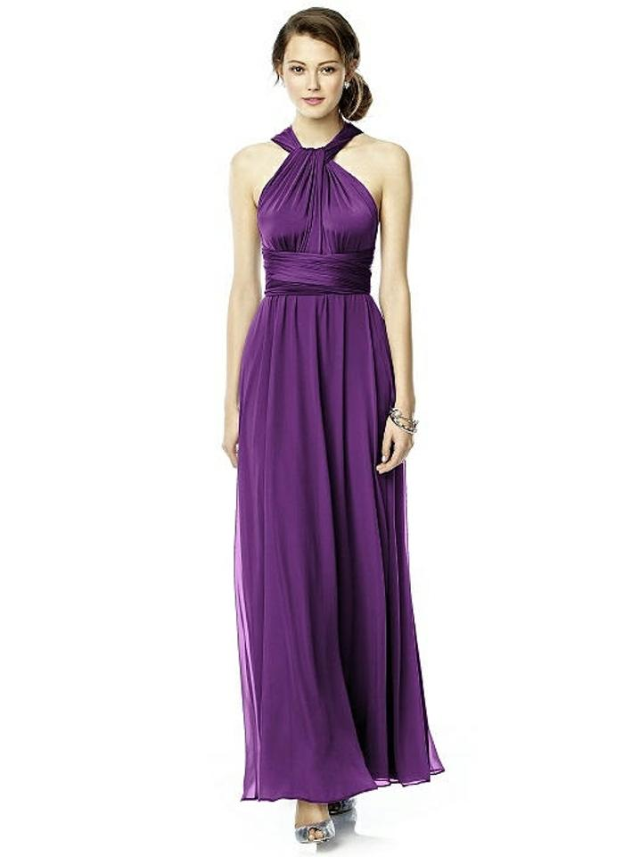 Dessy African Violet Purple Chiffon Twist Wrap Luxtwist2 Bridesmaid ...