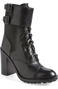 Tory Burch Broome Combat Black Boots