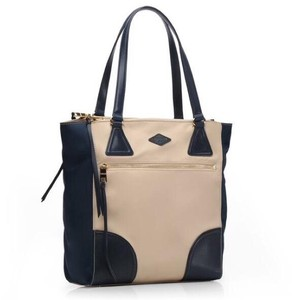 MZ Wallace Tote in Flax And Navy