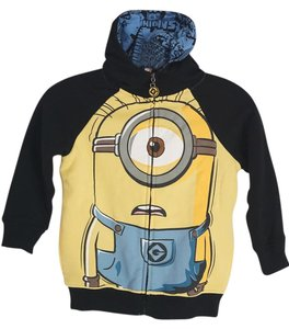Universal Studios Despicable Me Minion Hoodie Little Boy Hoodie Little Girl Minion Black Jacket