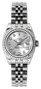 Rolex Rolex Datejust Steel and White Gold Silver Diamond Dial 26mm