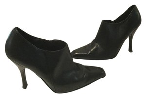 Charles David Square Toe Black all leather ankle Boots