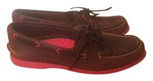 Sperry Topsider Boat Shoe Brown and Pink Flats