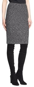 St. John St Tweed Santana Caviar Skirt Black