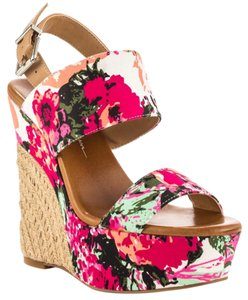 Jessica Simpson Floral Wedges