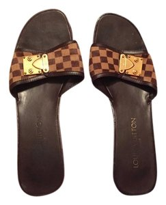 Louis Vuitton Brown Mules