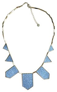 House of Harlow 1960 Leather Station Statement Necklace