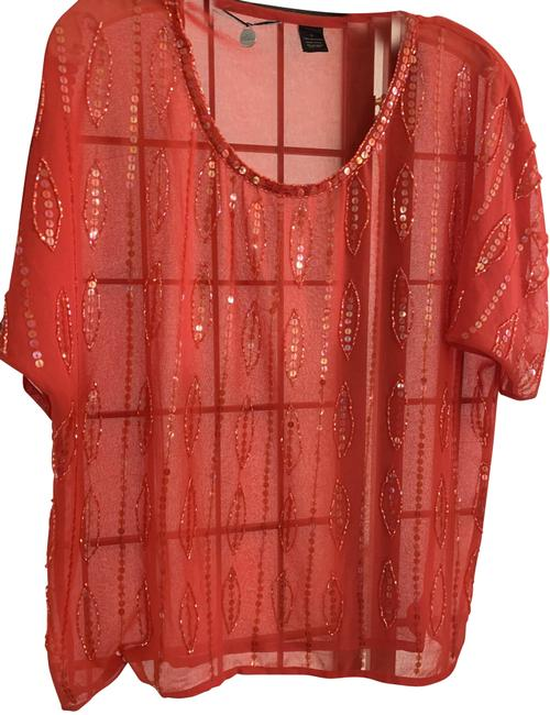 Item - Red Beaded Belle Blouse Size 12 (L)