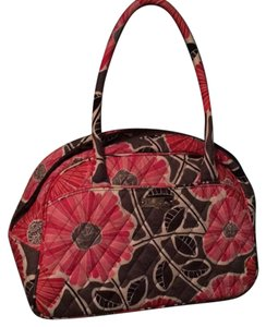 Vera Bradley Satchel in Pink, Gray, Red, Black, White